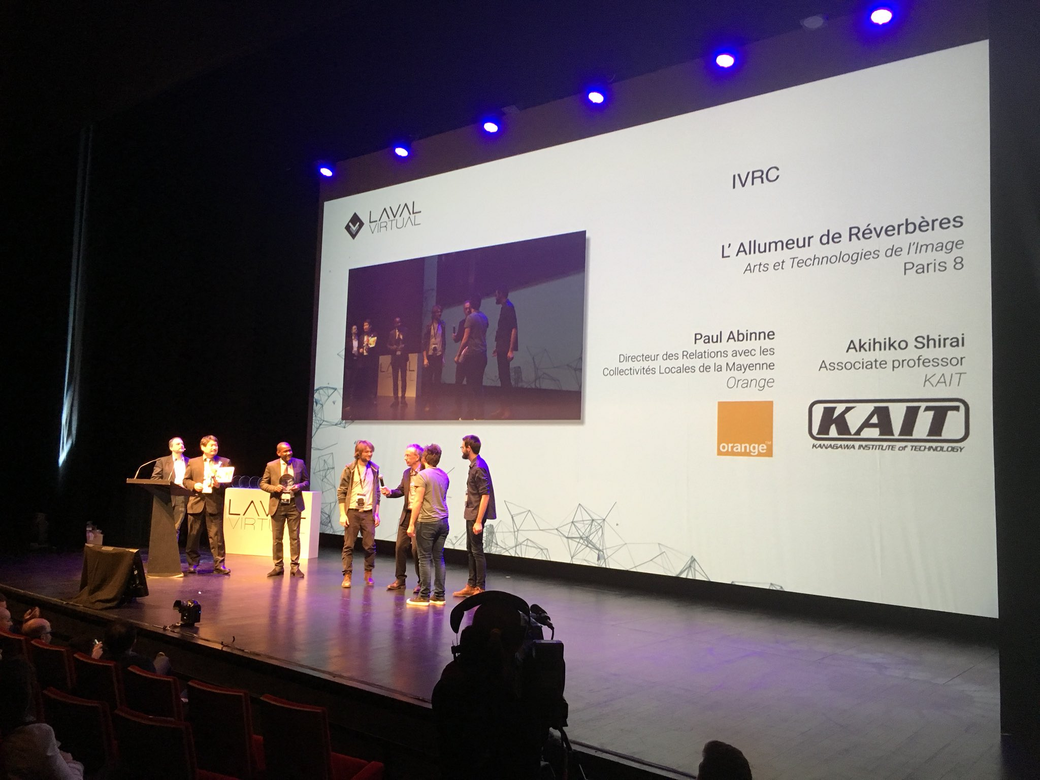 L'allumeur de réverbères awarded at Laval Virtual